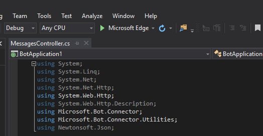 Visual Studio run project